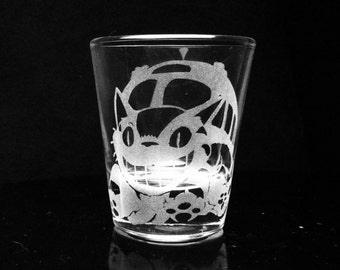 My Neighbor Totoro- Cat Bus- Studio Ghibli- Shot Glass- Etched