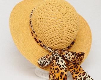 Womens gift Mom gift Sun Hat Crochet Summer Hat Womens Beach Hat Womens Hats With Ribbon Gift for Her Brim Hat Classic Crochet Hat mustard