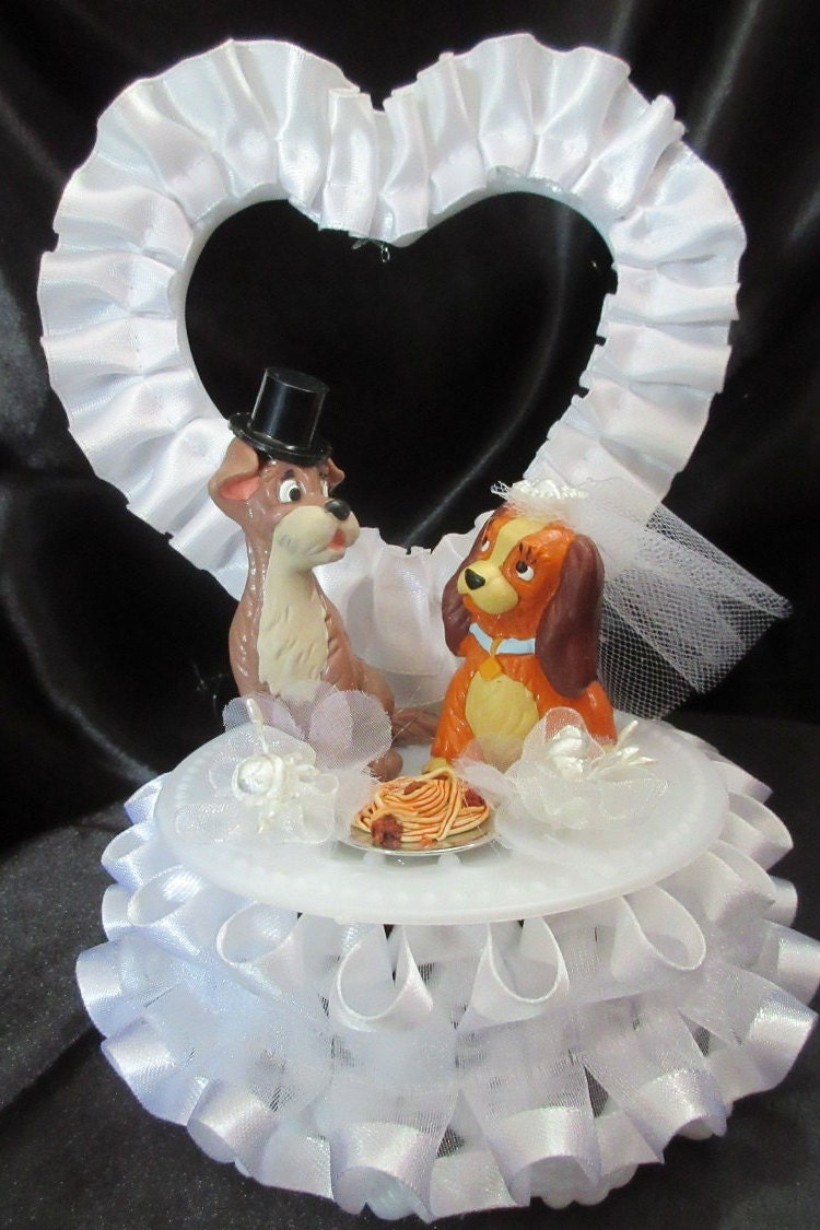 wedding cake disney toppers disneys and the tramp wedding cake topper by 1topper 22529
