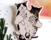Double Trouble Cat Pin