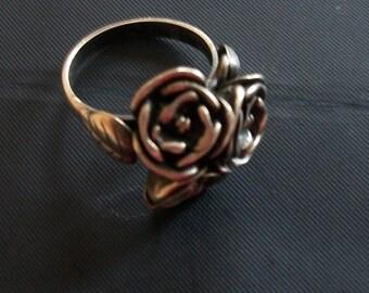 Vintage ring ,sterling silver - size 8- Handmade ,10g