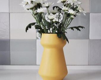 ceramic flower pot, flower vase, Ceramic Vase, Yellow flower vase, Yellow vase, modern minimalist, pottery vase, modern vase, yellow ceramic