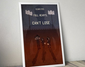Friday Night Lights poster alternative film poster tv poster sport poster football poster NFL poster College Football Smash Riggins Saracen