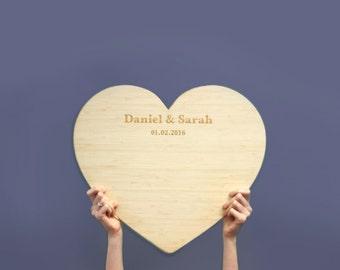 Large bamboo heart - Customised