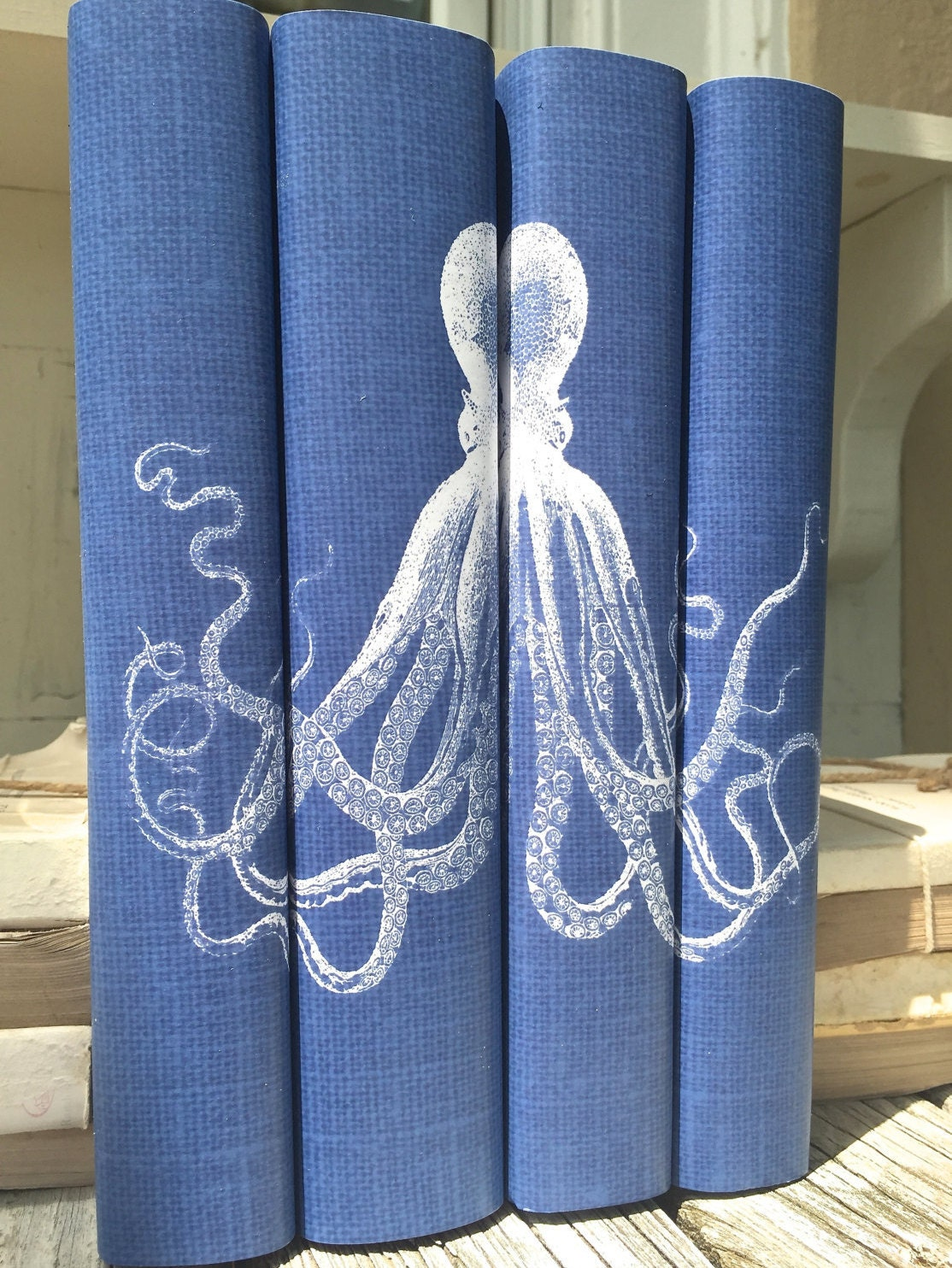 How To Make A Decorative Book Cover : Octopus decorative books with book