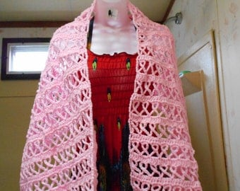 Breast Cancer Prayer Shawl, Handmade