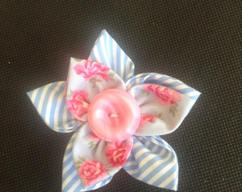 Fabric Kanzashi flower
