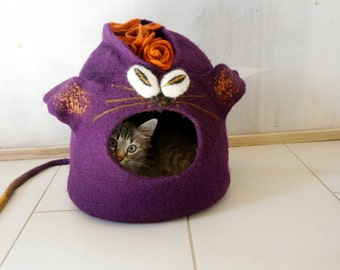Cat bed/Cat cave/Cat house-Punk cat/Ready to shipp! S size