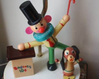 Vintage Balloon Clown  Nursery Lamp made by Dolly Toy Company in 1958