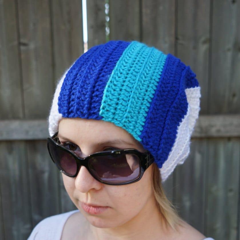 Crochet Beanie Vinyl Scratch Inspired Beanie My Little Pony Hat