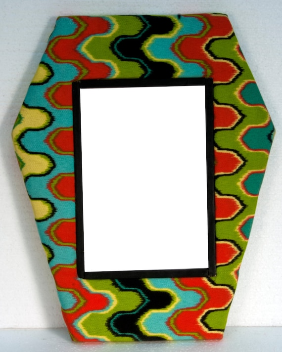Fabric coffin picture frames by freakyfurniturestore on etsy for Fabric picture frames