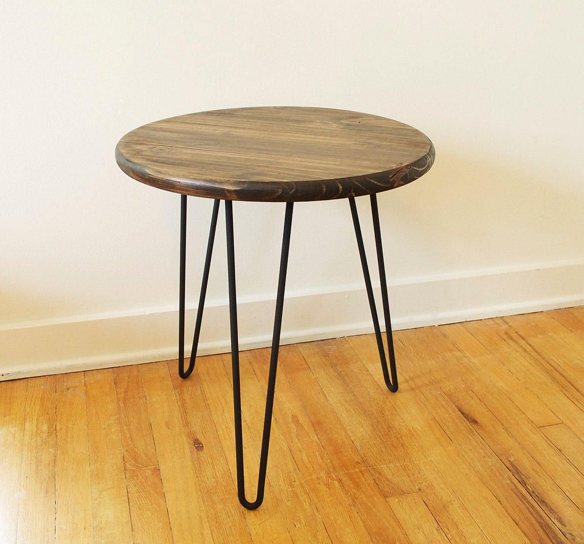 Mid Century Modern Round Side Table : Mid Century Modern Inspired 18 Round Side Table by ModernMutations