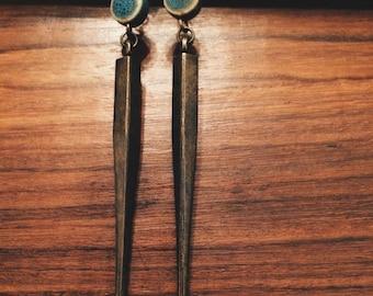 Bronze Spike Earrings