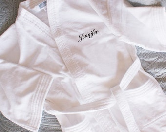 Embroidered Name or Initials Bathrobe