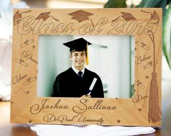 Graduation Engraved Wood Frame