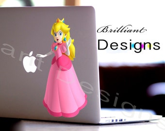 Princess Peach,Princess Peach Decal,Sticker, Macbook Pro, iPads, Laptops,Wall Decor and Vehicles, Geekery, Gift, For Her, For Him
