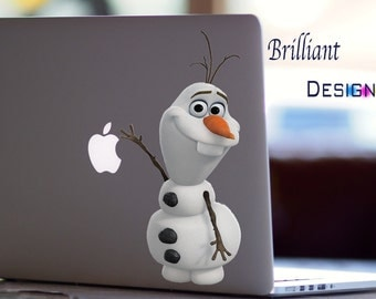 Olaf ,Olaf Decal, Frozen sticker,Snowman,winter, Snow, Apple Computer MacBook Pro, MacBook Air, MacBook, Gift, geekery, for her, for him