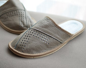 Man slippers , natural leather slippers, man shoes, leather shoes, leather shoes,