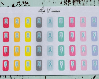 Chemo Infusion stickers for your planner or calendar!