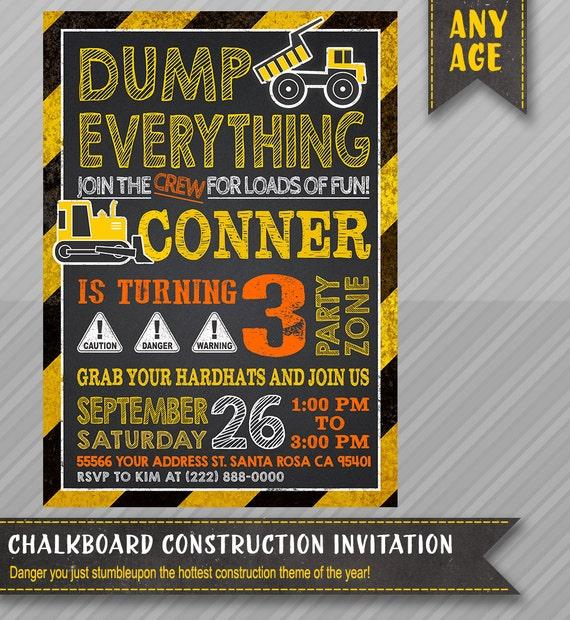 Printable CONSTRUCTION INVITATION