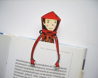 Bookmark 2001 a Space Odyssey Kubrick  Science Fiction movie HAL 9000 Dave space suit paper bookmark