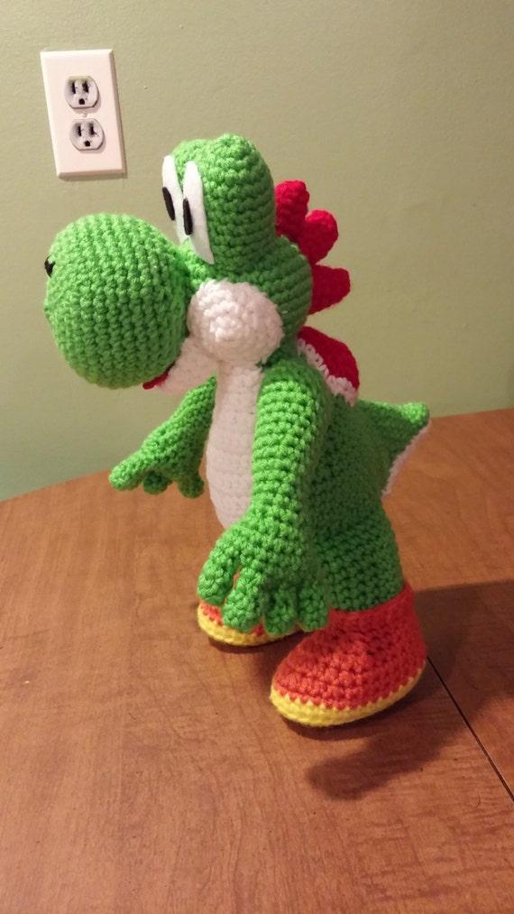 Crochet super mario yoshi plush for Yoshi plush template