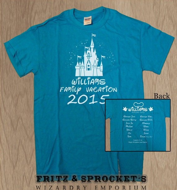 20 disney family vacation custom t shirts by fritzandsprocket for Custom t shirts family vacation
