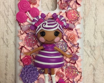 LaLaLoopsy GRAPE VINE CANDY Samsung Galaxy S5 Cell Phone Case - Decoden Icing Kawaii! Lots of purple and pink! Shiny!