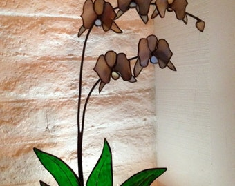 3D Stained Glass Orchid