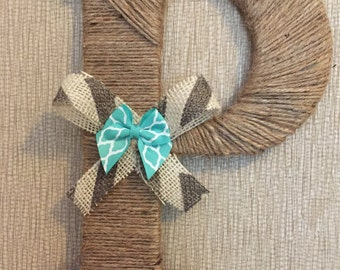 Twine Wrapped Letter with Double Bow