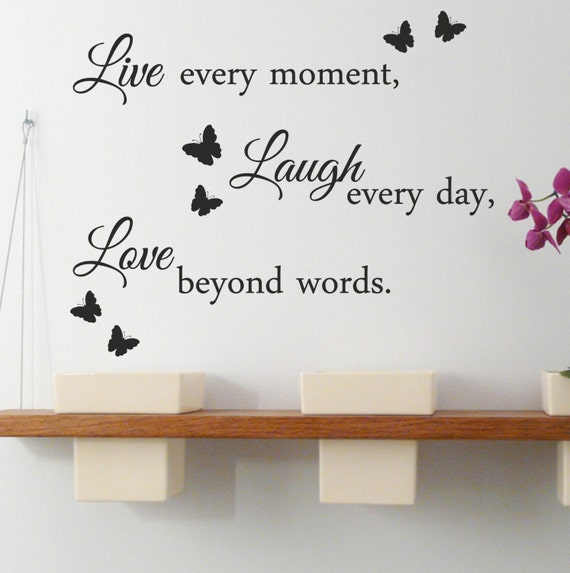 Beyond Words Customizable Wall Decor Kohls : Live laugh love wall quote stickers removable vinyl decal