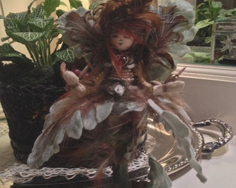 Limited Edition Handmade Fairy Collectible--Woodland Series--Mariette