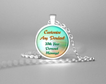 Custom pendant etsy custom pendant personalize any field of dreams jewelry necklace customize personalized custom design custom pendant personal aloadofball Image collections