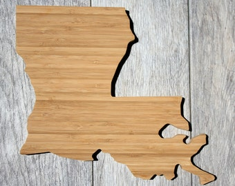 Louisiana Cutting Board - Custom Engraved Louisiana State Cutting Board - Perfect Wedding Gift, Engagement Gift, Housewarming Gift