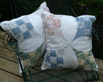 Country Quilted Accent Pillows/Decorative Pillows
