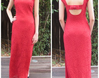 Lace Maxi Dress, Bridesmaid Dress, Wedding Guest Dress