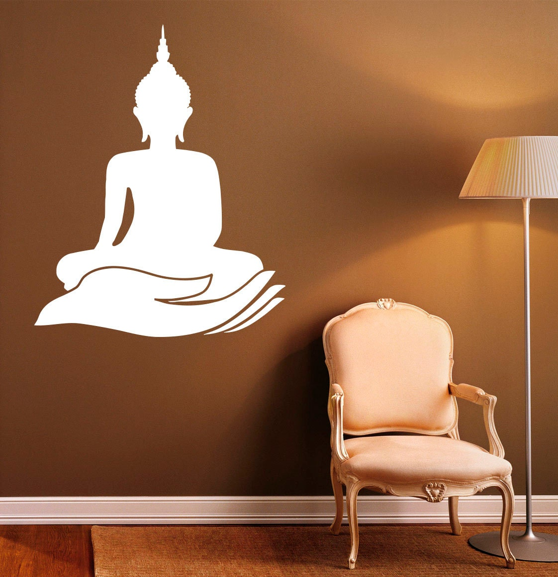 buddha wall decal indian design lotus flower vinyl stickers zoom