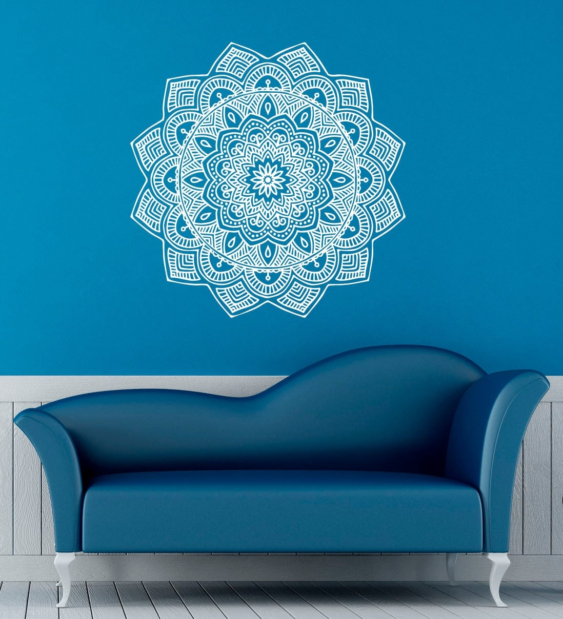 Mandala wall decal indian pattern vinyl stickers by for Mural mandala