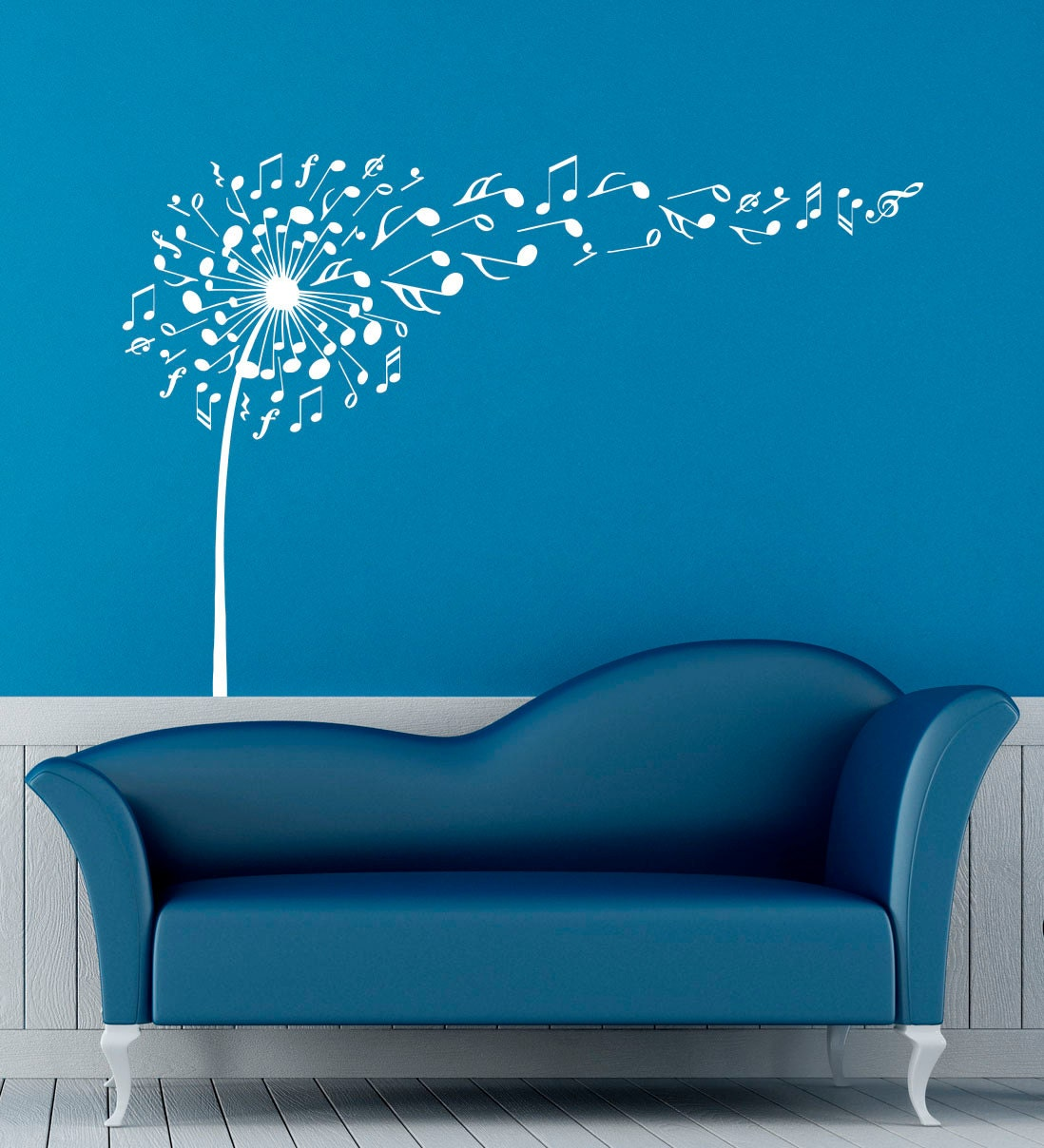Music notes wall decal vinyl stickers music dandelion home zoom amipublicfo Images