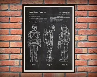 Patent 1982 Star Wars Boba Fett Art Print - Poster Print - Wall Art - George Lucas - Lucas film