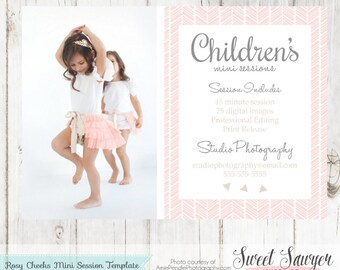 INSTANT DOWNLOAD - Childrens mini session template or photography mini session template