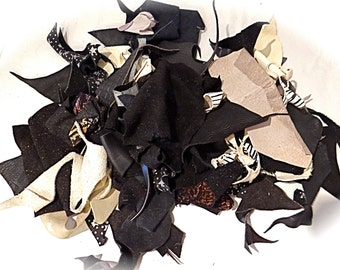 Leather Scrap Grab Bag Leather Crafts Jewelry Supplies L-106