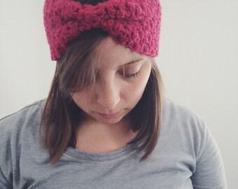 Crochet Headband Earwarmer | CRANBERRY | Made to Order