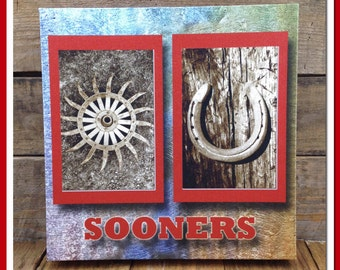 Canvas Gallery Wrap, OU Sooners, Wall Decoration