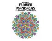 Advanced Flower Mandalas Adult Coloring Book - printable mindfulness coloring book - 12 adult coloring pages - get well soon gift