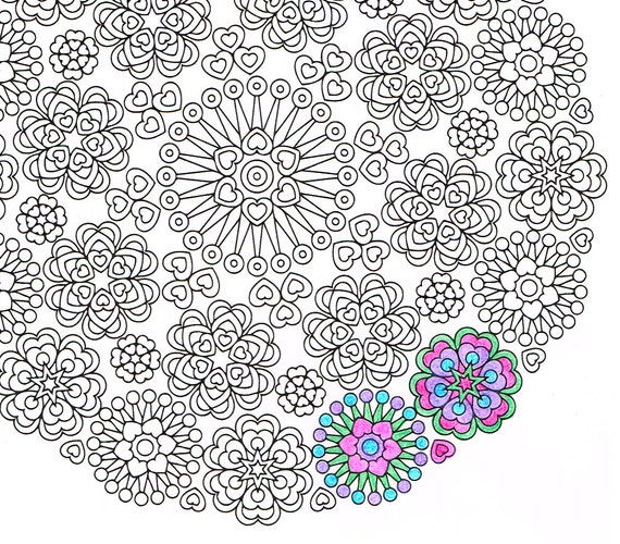 mandala coloring pages as therapy - photo#35