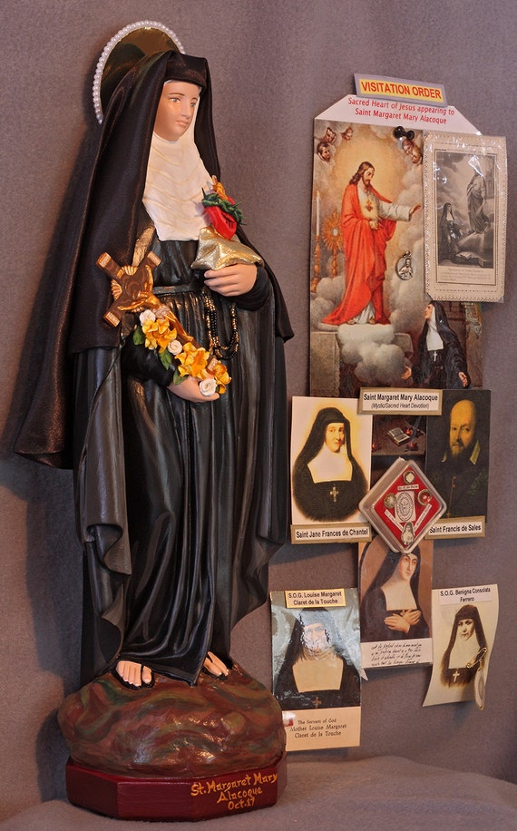 """St. Margaret Mary Alacoque 18"""" Patronage: Those Who Loss Their Parents"""