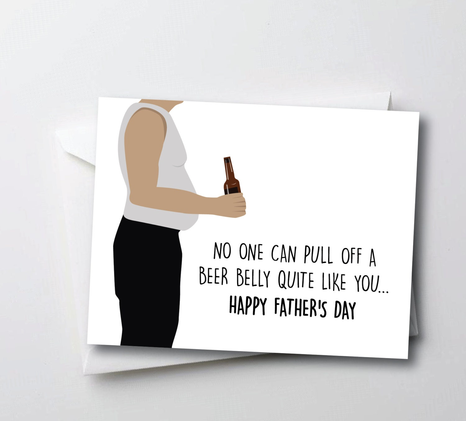 Mean Fathers Day Card Funny Fathers Day Card