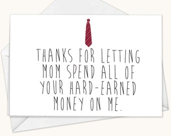 Funny Fathers Day Card, Stepdad Card, Fathers Day Card, Greeting Card, Blank Greeting Card, Funny Card, Dad Card, Father Card