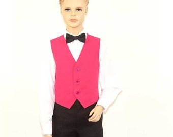 Kids Fucshia Full Back Dress Vest